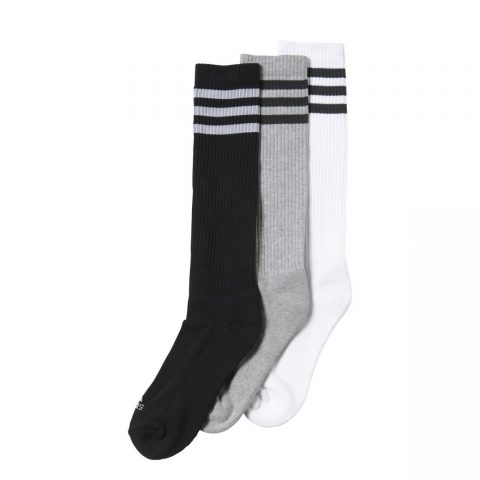 Adidas 3 Stripes Knee Half Cushioned 3 pairs-pack