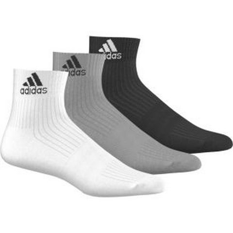 adidas Performance Adidas 3-STRIPES PERFORMANCE ANKLE SOCKS 3 PAIRS