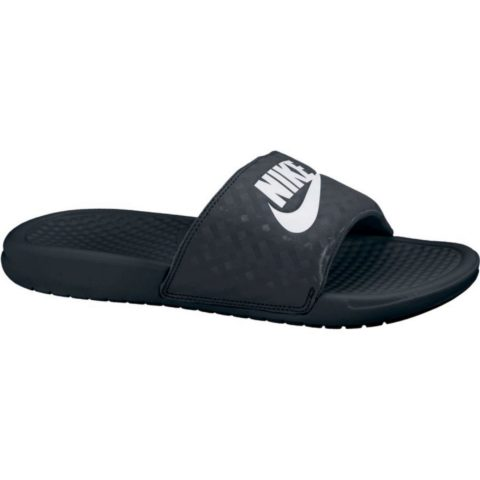 "Nike Women's Nike Benassi ""Just Do It."" Sandal BLACK/WHITE"