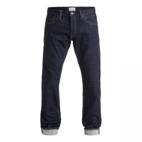"""Quiksilver QuikSilver Revolver Rinse 34"""" Straight Fit Jeans"""