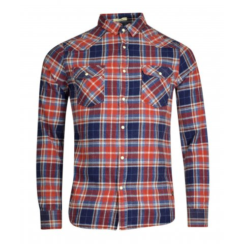 Funky Buddha Funky Buddha Mens Shirt (Red Check)