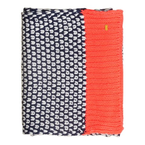 Superdry Superdry Spot Pop Colour Scarf (Navy / Fluro Coral Pop)