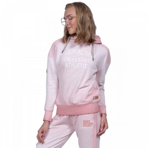 Body Action Body Action Women Slouch Hoodie (D.Pink)