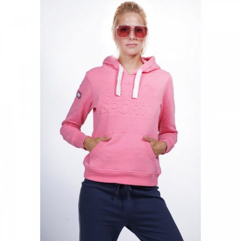 Body Action Body Action Women Active Hoodie (L.Pink)