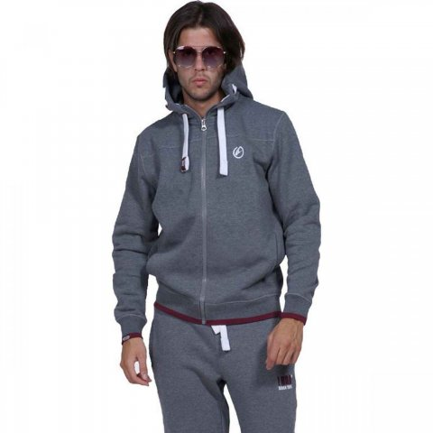 Body Action Body Action Men Full-Zip Sweatshirt (d.mel grey)
