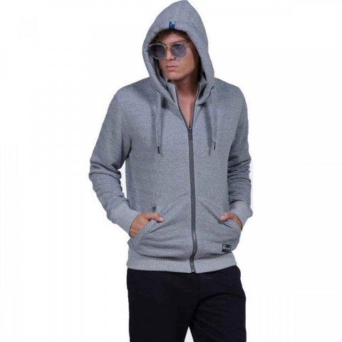 Body Action Body Action Men Hooded Sweat Jacket (grey)