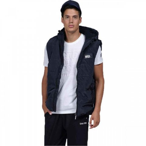 Body Action Body Action Men Zip Through Quilted Vest (black)