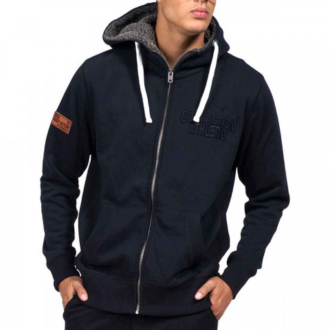 Body Action Body Action Men Zip Through Hoodie (black)
