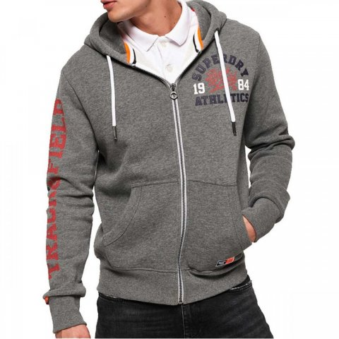 Superdry Superdry Track & Field Ziphood (santa monica grey marl)