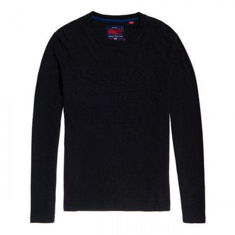 Superdry Superdry Authentic Embss L/S Tee (tin tab navy)