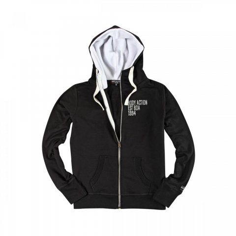 Body Action Body Action Women Hooded Jacket (Black)
