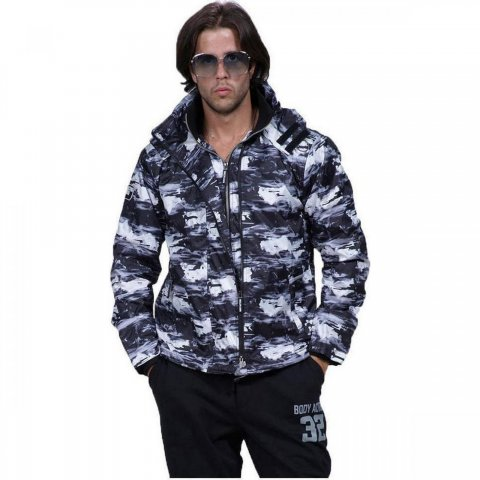 Body Action Body Action Men Winter Fleece Lined Jacket (White)