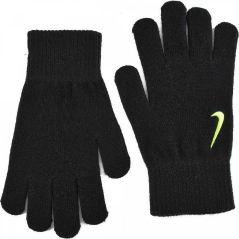 Nike Nike YA Swoosh Knit Gloves Black