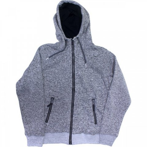 Body Action Body Action Men Thick Fleece Zip Hoodie (Grey)