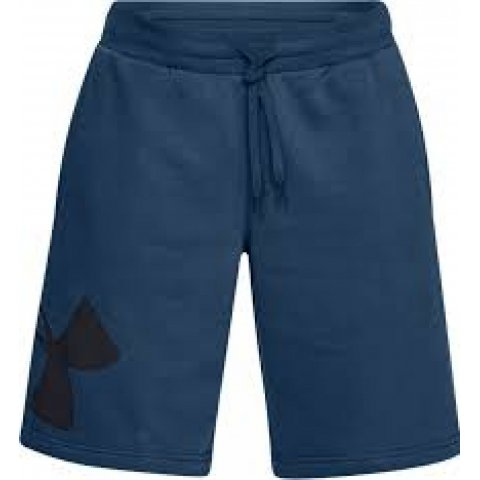 Under Armour Mens Under Armour Rival Fleece Logo Shorts Blue