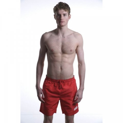 Body Action Body Action Men Mid-Leng Swim Shorts (Red)