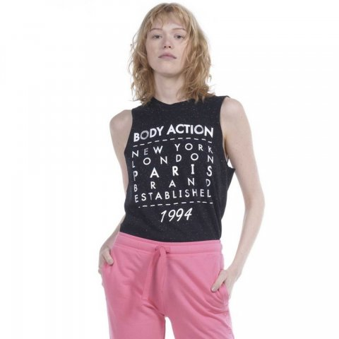 Body Action Body Action Women Punk Tank Top (Black)