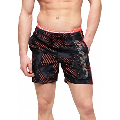 Superdry SUPERDRY STATE VOLLEY SWIM SHO (BLACK CAMO )
