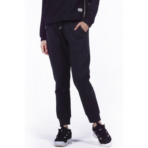Body Action BODY ACTION WOMEN RELAXED JOGGERS - ΒLΑCΚ
