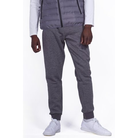 Body Action BODY ACTION MEN GYM FLEECE JOGGERS - D.MEL.GREY