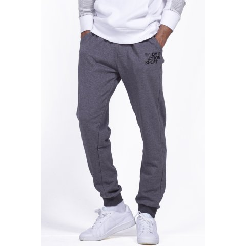 Body Action BODY ACTION MEN BASIC SWEAT PANTS - D.ΜΕL.GRΕΥ