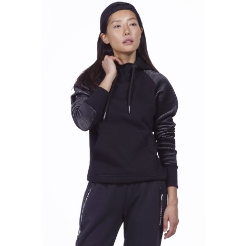 Body Action BODY ACTION WOMEN GYM HOODIE - BLACK