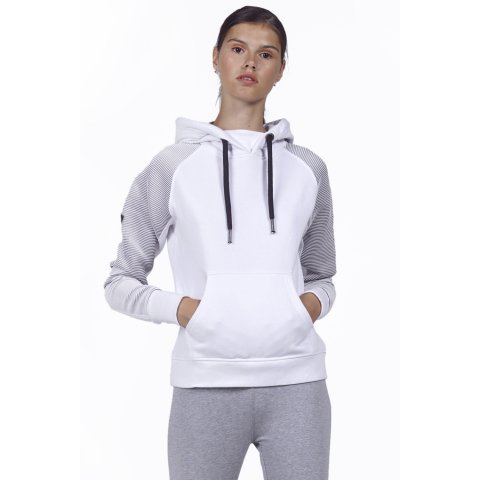 Body Action BODY ACTION WOMEN GYM HOODIE - WHITE