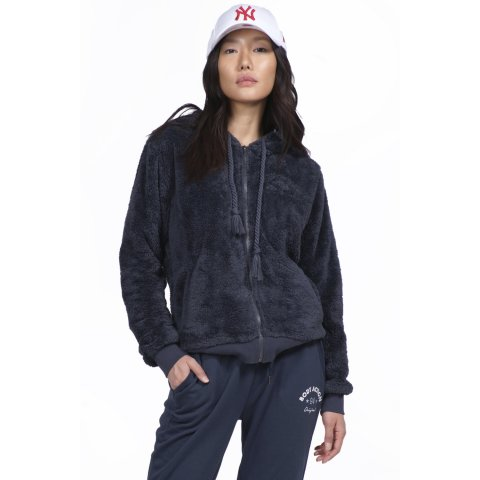 Body Action BODY ACTION WOMEN SHERPA HOODIE - D.GREY
