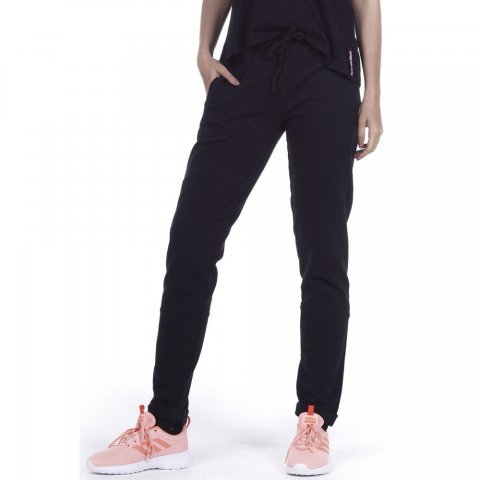 Body Action BODY ACTION WOMEN SKINNY JOGGERS - BLACK