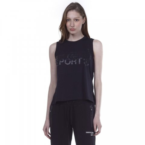 Body Action BODY ACTION WOMEN ACTIVE LOOSE VEST - BLACK