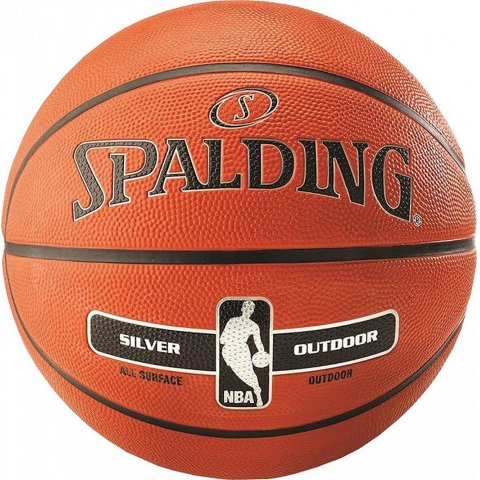 Spalding SPALDING NBA SILVER SERIES OUTDOOR RUBBER BASKETBALL