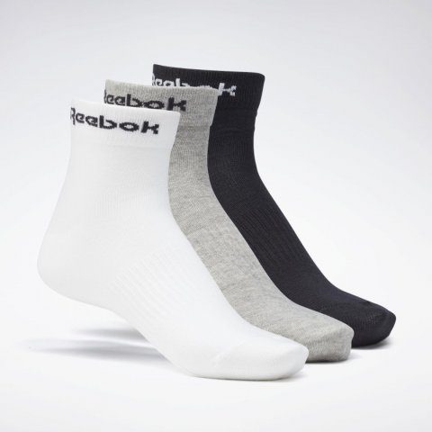 Reebok  REEBOK ACT CORE ANKLE SOCK MGREYH/WHITE/BLACK