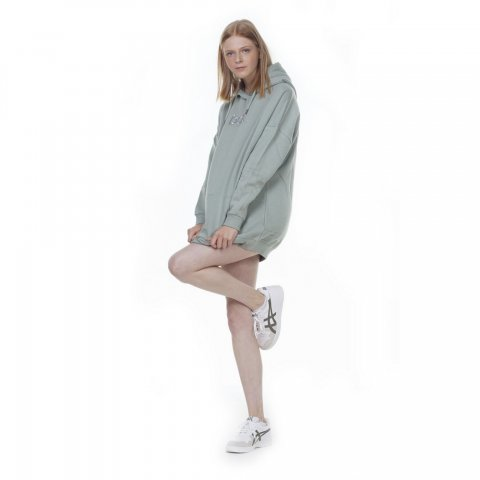 Body Action BODY ACTION WOMEN OVERSIZED HOODIE - GREEN