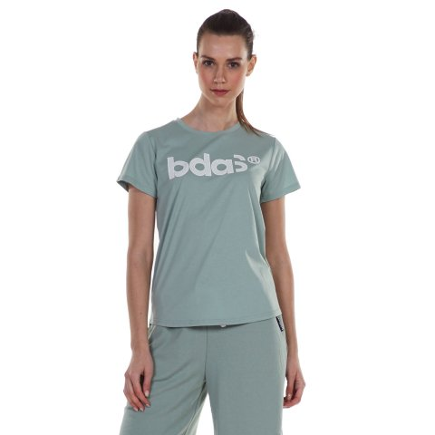 Body Action BODY ACTION WOMEN'S ACTICE SHORT SLEEVE TEE L .GREEN