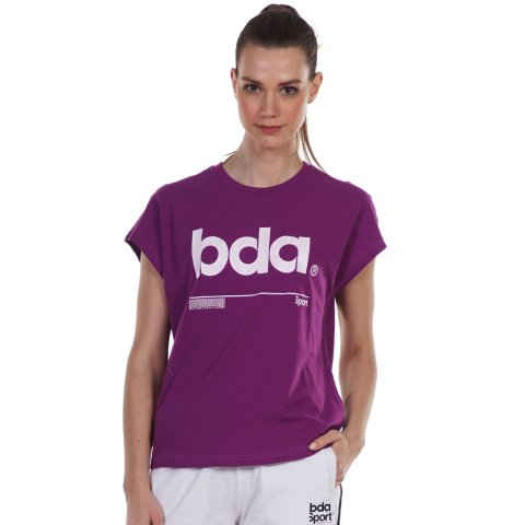Body Action BODY ACTION WOMEN'S RELAXED FIT T-SHIRT PURPLE
